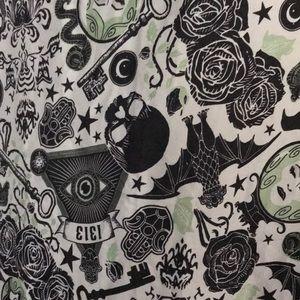 Goth ritual scarf evil